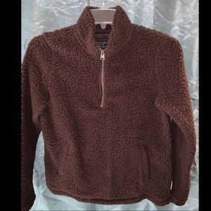 Abercrombie & Fitch Sherpa 1/4 Zip Sweater Size M